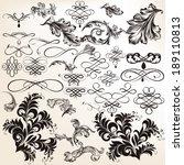 vector set of calligraphic... | Shutterstock .eps vector #189110813