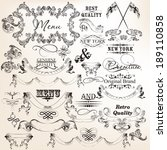 vector set of calligraphic... | Shutterstock .eps vector #189110858