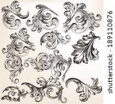 vector set of calligraphic... | Shutterstock .eps vector #189110876