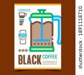 black coffee creative... | Shutterstock .eps vector #1891118710
