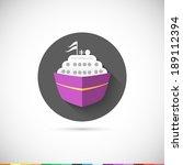 ship icon. flat style ui....