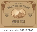 wine label with a landscape of... | Shutterstock .eps vector #189112763