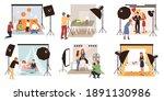 photo studio. photographers... | Shutterstock .eps vector #1891130986