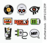 set of funky rock and roll... | Shutterstock .eps vector #1891131259