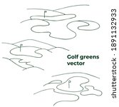 Golf Greens In Vector. Isolated ...
