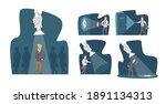 set of businessmen characters... | Shutterstock .eps vector #1891134313