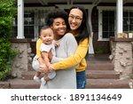 cute multiethnic family... | Shutterstock . vector #1891134649