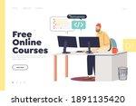free programming courses online ... | Shutterstock .eps vector #1891135420