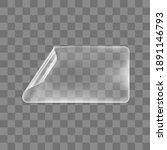 transparent glued rectangle... | Shutterstock .eps vector #1891146793