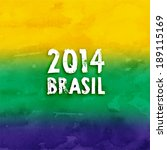 brazil summer 2014 vector water ... | Shutterstock .eps vector #189115169
