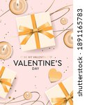 valentine's day design.  gifts... | Shutterstock .eps vector #1891165783