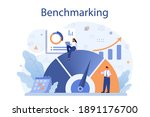 benchmarking concept. idea of... | Shutterstock .eps vector #1891176700