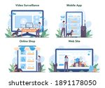 security guard online service...   Shutterstock .eps vector #1891178050
