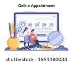 hairdresser online service or...   Shutterstock .eps vector #1891180033