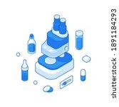 isometric vector illustration... | Shutterstock .eps vector #1891184293