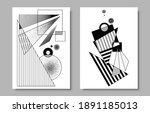 contemporary geometric poster...   Shutterstock .eps vector #1891185013