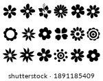 silhouettes of simple vector... | Shutterstock .eps vector #1891185409