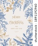 forest christmas frame. vector...   Shutterstock .eps vector #1891192960