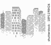 abstract city scene buildings ... | Shutterstock .eps vector #1891198426
