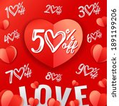 valentines day sale heart... | Shutterstock .eps vector #1891199206