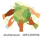 hands of diverse people... | Shutterstock .eps vector #1891204936