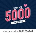 thank you 5000 social media... | Shutterstock .eps vector #1891206949