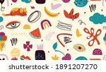 modern decorative pattern. cute ... | Shutterstock .eps vector #1891207270