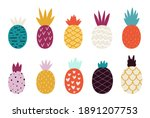 Doodle Abstract Pineapple....