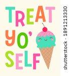 cute ice cream cone... | Shutterstock .eps vector #1891213330