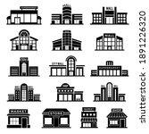 supermarket facade. retail shop ... | Shutterstock .eps vector #1891226320