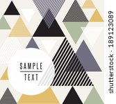 abstract triangle design with... | Shutterstock .eps vector #189123089