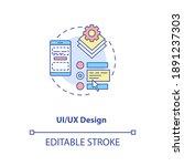ui and ux design concept icon....