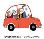 family car | Shutterstock .eps vector #189123998