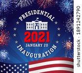 presidential inauguration 2021  ... | Shutterstock .eps vector #1891242790