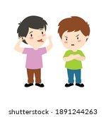 the boys are arguing. children... | Shutterstock .eps vector #1891244263