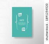quote text bubble. commas  note ... | Shutterstock .eps vector #1891254520