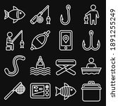 fishing icons set on black... | Shutterstock .eps vector #1891255249