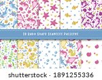baby shark birthday seamless... | Shutterstock .eps vector #1891255336