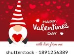 valentine's day greeting card.... | Shutterstock .eps vector #1891256389