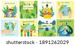 earth day concept. human hands... | Shutterstock .eps vector #1891262029