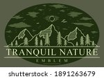 mountains range and pine forest ... | Shutterstock .eps vector #1891263679