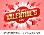 valentine's day greeting card... | Shutterstock .eps vector #1891263706