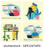 webinar online concept... | Shutterstock .eps vector #1891267690