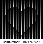 abstract unusual heart sign... | Shutterstock .eps vector #1891268920
