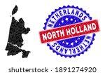 North Holland Map Polygonal...