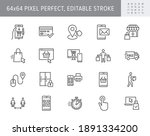 click and collect service line... | Shutterstock .eps vector #1891334200