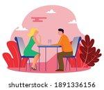 flat illustration  having...   Shutterstock .eps vector #1891336156