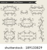 vector set of floral frames... | Shutterstock .eps vector #189133829