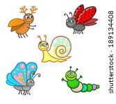 animation insects isolated on a ... | Shutterstock .eps vector #189134408