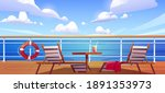 Cruise Ship Deck With Sun...